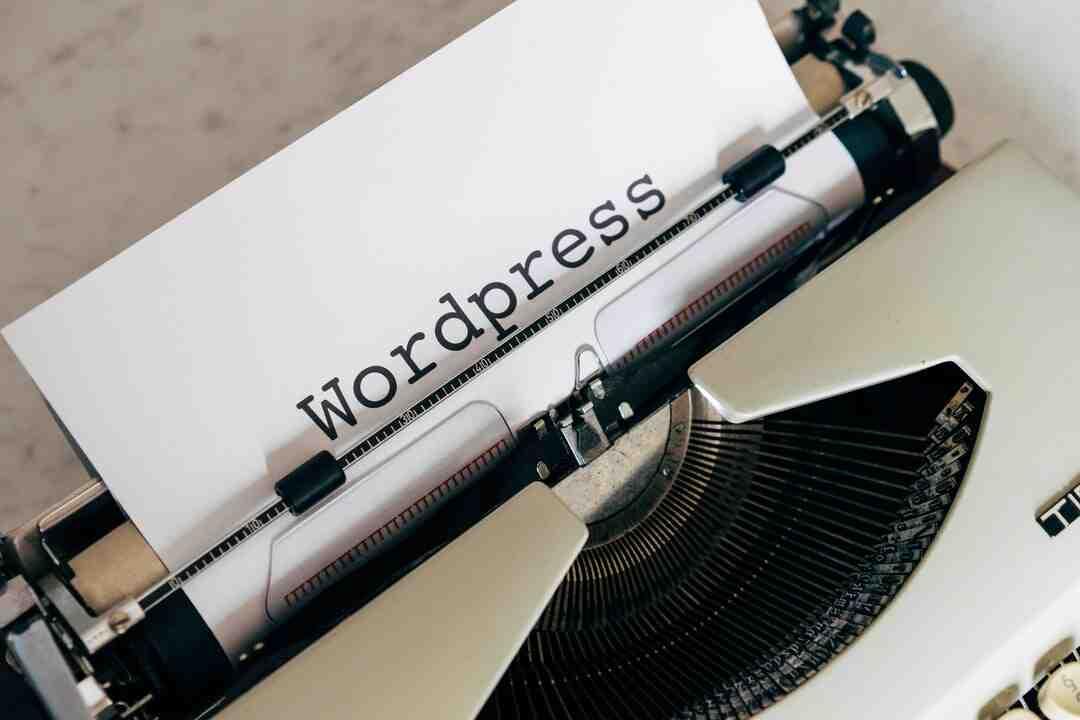 Wordpress comment définir la page d'accueil